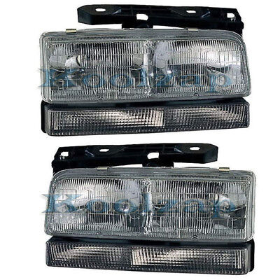 LeSabre Park Avenue Headlight Headlamp Head Light Lamp Left Right Side Set (Park Avenue Headlamp Headlight Lamp)
