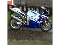 Suzuki gsxr 600 52 reg, may deliver