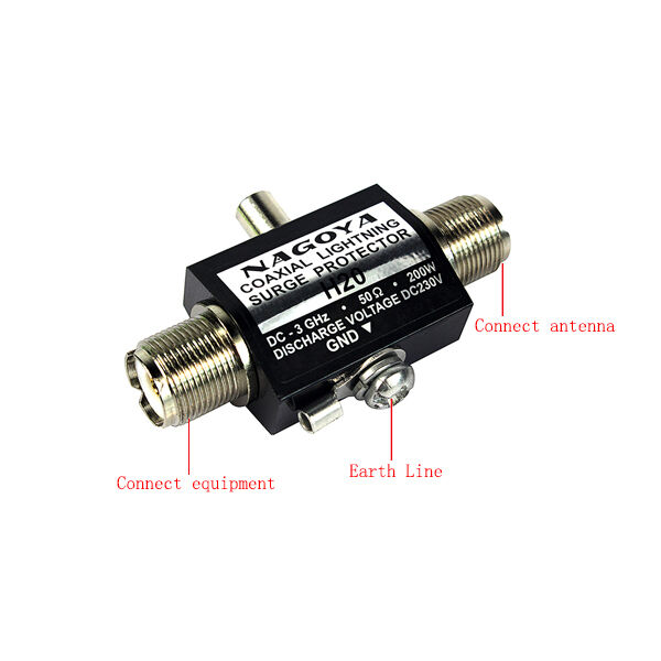 New NAGOYA H20 UHF/SO-239 Type 200W 50Ohm 3GHz Protector Lightning Arrester /Coaxial Lighting Surge Protector  sc 1 st  eBay & NAGOYA UHF-F Coaxial Lighting Surge Protector Arrester for ... azcodes.com