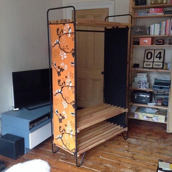 ikea bodo wardrobe clothes rack hanging rail storage shelves - Clothes Rack Ikea