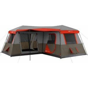 12 Person Large Cabin Tent Family C&ing Instant 3 Room L-Shaped Outdoor Huge  sc 1 st  eBay & 12 Person Tent | eBay