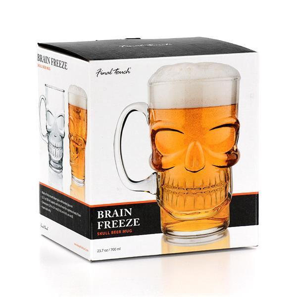 Attractive Final Touch Gothic SKULL BEER Lager Pint Glass Halloween Barware Unusual  Gifts