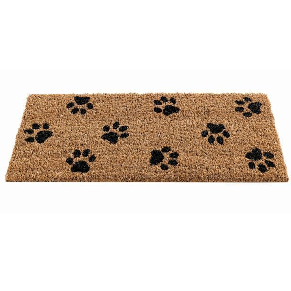 Gardman Paw Print Patterned Coir Doormat 82490 23x53cms PVC Backed Insert