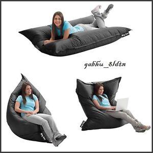 Lounger Bean Bagu0027 Oversize Large Sofa Lounge Chair Seat Floor Bed 2in1,  BLACK