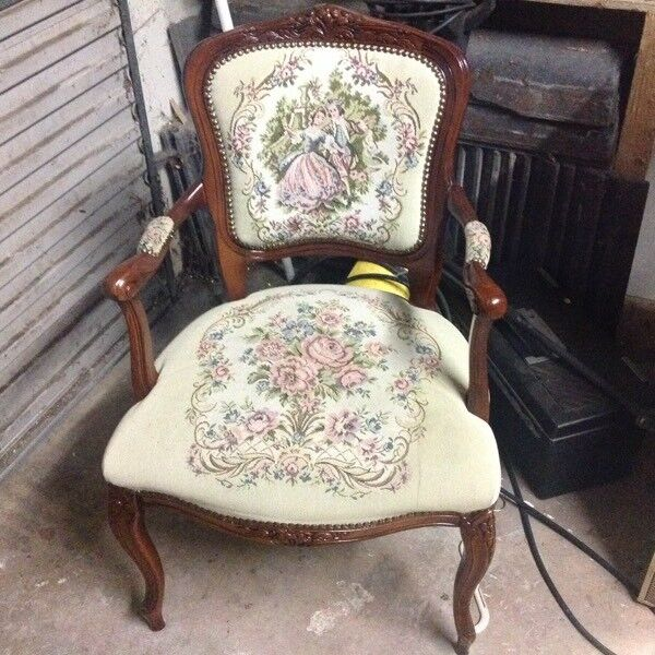 Superior Tapestry Chair With Mahogany Frame