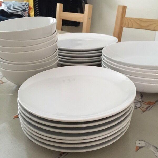 Dinnerware/Crockery Set - IKEA - White - £15 - Small/Large Plates & Dinnerware/Crockery Set - IKEA - White - £15 - Small/Large Plates ...