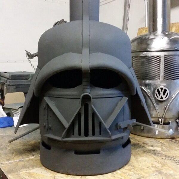 Star Wars Darth Vader Style Patio Heater Wood Log Burner Chiminea Vw