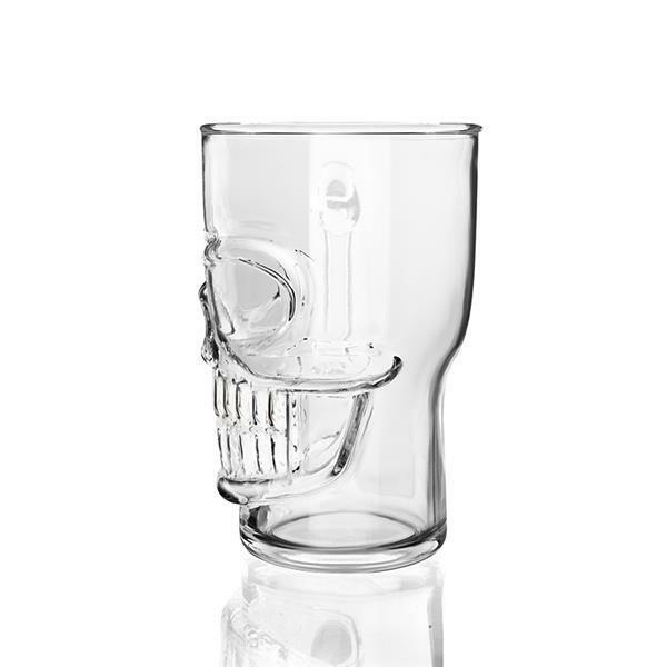 Final Touch Gothic SKULL BEER Lager Pint Glass Halloween Barware Unusual  Gifts