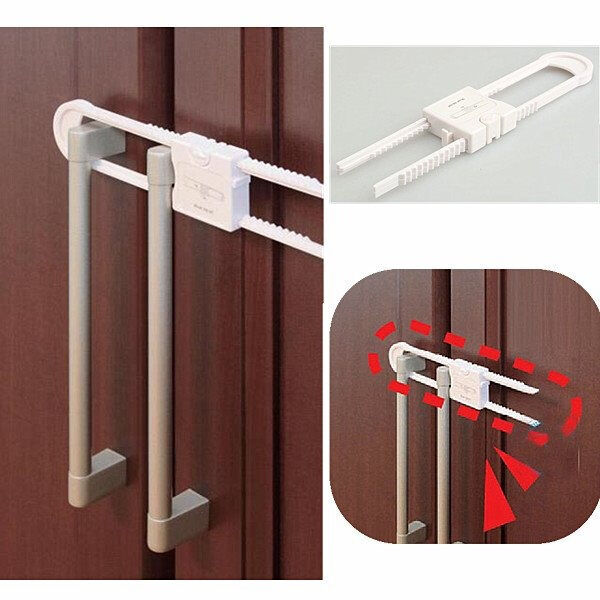 Details About 4pcs Child Locks Baby Kid Toddler U Shape Safety Cabinet Door  Drawer Lock White