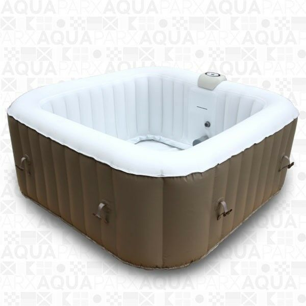 Aqua Spa Deluxe 6 Person Inflatable Portable Square Spa AquaSpa Hot Tub