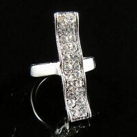 Elegant Noble Shiny diamante 18K GP Ring Size 9--NEW!!
