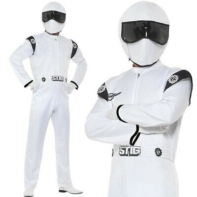 Mens The Stig Fancy Dress Costume Licensed TV Top Gear Driver Outfit by (Stig Kostüme)