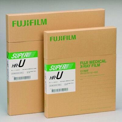 Fuji Green Hr-u X-ray Film 14x36 Inch Trifold 25 Sheetsbox