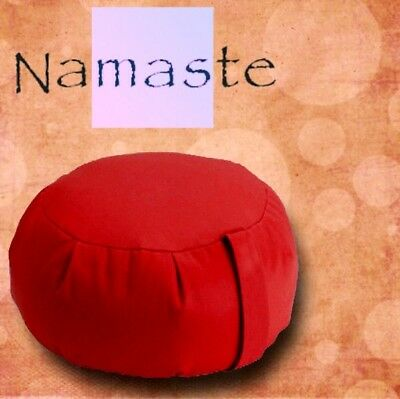 NEW - Stuffed Zafu Yoga Pillow Meditation Cushion - RED - MADE in USA for sale  Brooklyn