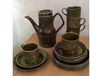 Retro vintage 19 piece Sadler Coffee Set