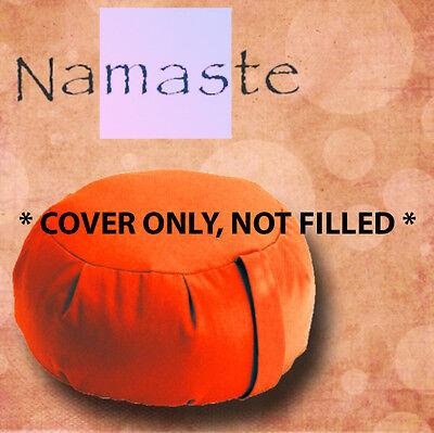 NEW - Zafu Yoga Pillow Meditation Cushion Cover -TANGERINE ORANGE- MADE in USA for sale  Brooklyn