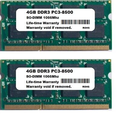 8GB 2x 4GB PC3-8500 Apple MacBook Pro iMac Mac MINI Mid 2009 mid 2010 MEMORY RAM