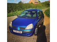 Renault Clio 1.2 16v expression 55 plate 3dr PERFECT FIRST CAR