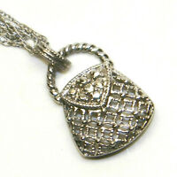 White Gold Diamond Purse Pendant
