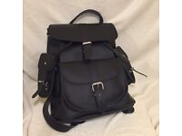 New Grafea Leather Backpack in Black
