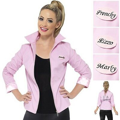 Deluxe Grease Pink Lady Fancy Dress Jacket Official - Grease Pink Lady Kostüme