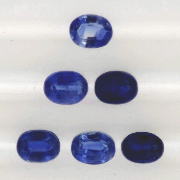 KYANITE 4 x 3 MM OVAL CUT ALL NATURAL TOP SAPPHIRE BLUE COLOR CALIBRATED F-1612
