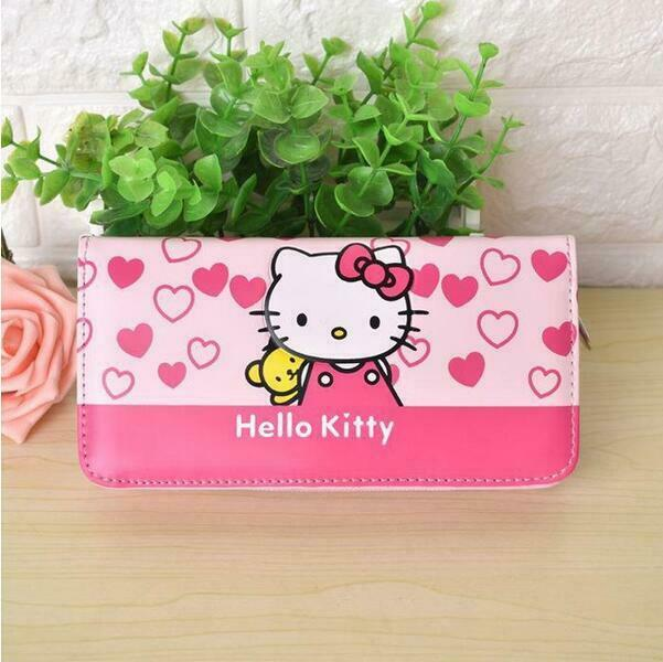 Cute Girls Hello Kitty Wallet PU Leather Long Purse Clutch Card Holder Bag Gift