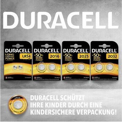 Duracell CR2032 l CR2025 l CR2016 l LR54 l Knopfzellen l Auswahl Blister l Bulk