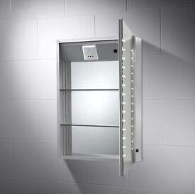 Pebble Grey Hollis LED Cabinet Mirror