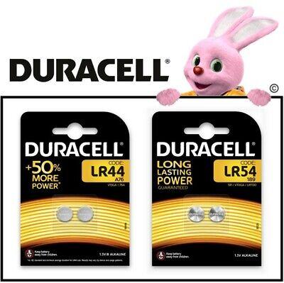 Duracell LR44 LR54 Batterien Knopfzellen 1,5V Volt Bulk Blister