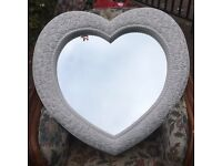 Nice large heart shape mirror new £55