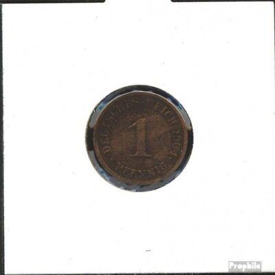 Deutsches Reich Jägernr: 10 1907 D vorzüglich Bronze 1907 1 Pfennig Großer Reich