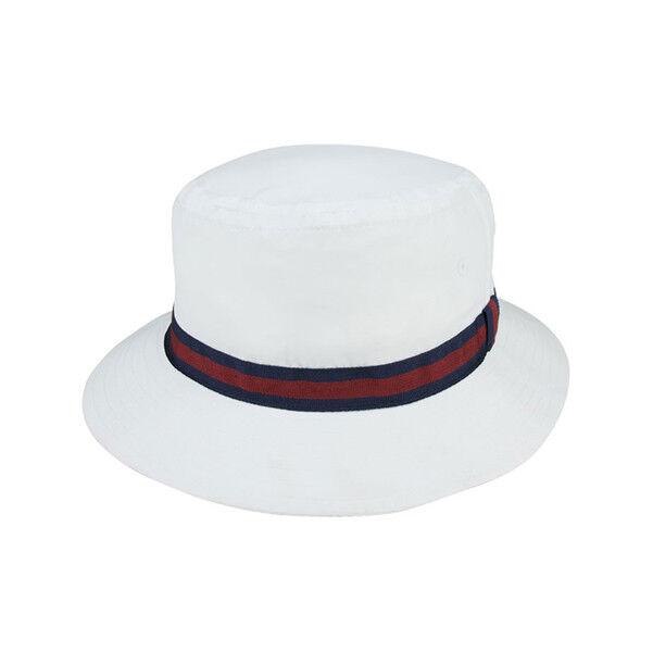 DPC Water Repellent Poplin Golf Rain Bucket Hat White