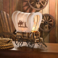 Country Western Table Lamps Horse Chuckwagon Choice Brand New