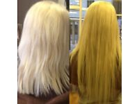 La weave micro ring weft pre bonded hair extensions