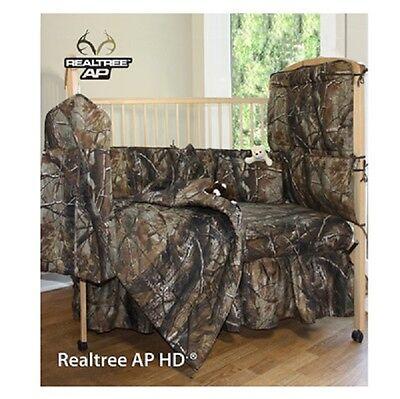 Realtree Camo Baby Crib Bedding Set - Camouflage Comforter (Camouflage Crib Sheet Sets)