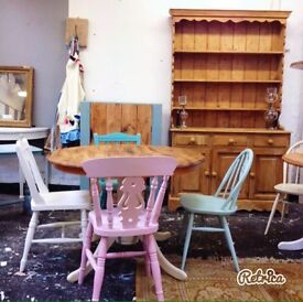 Vintage Farmhouse dining tables and chairs