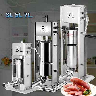 Vertical Sausage Stuffer Sausage Filler Stainless Steel Commercial 5l 4xtubes