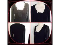 New look women's black jumper size 10