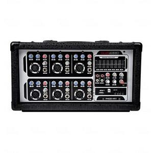 PM608 PA DJ Powered Mixer Amplifier 300 Watts 6 Channel Brick