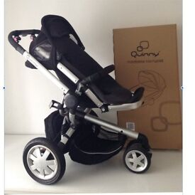 Black Quinny Buzz and New Folding Carrycot