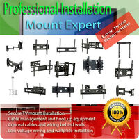 TV mounting brackets, TV wall mounts and Installations