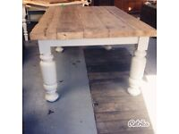 Reclaimed Large Farmhouse dining table from Reborn in a Barn