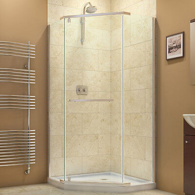 "NEO Edge 40"" x 40"" x 72"" DREAMLINE PRISM 3/8"" CORNER SHOWER FRAMELESS Barrier"