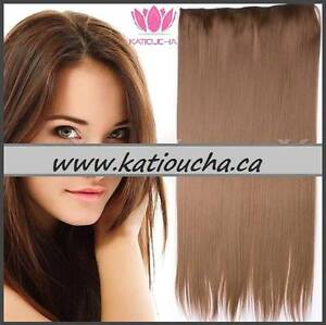 "CLIP IN hair extension,Straight hair, 24"", Color GOLDEN BROWN Yellowknife Northwest Territories image 5"
