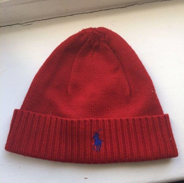 Ralph Lauren red beanie hat