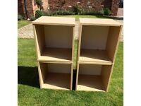 Wooden storage cubes set of four £18