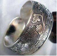 Tibetan Tibet Silver Totem Bangle Cuff Bracelet--NEW!