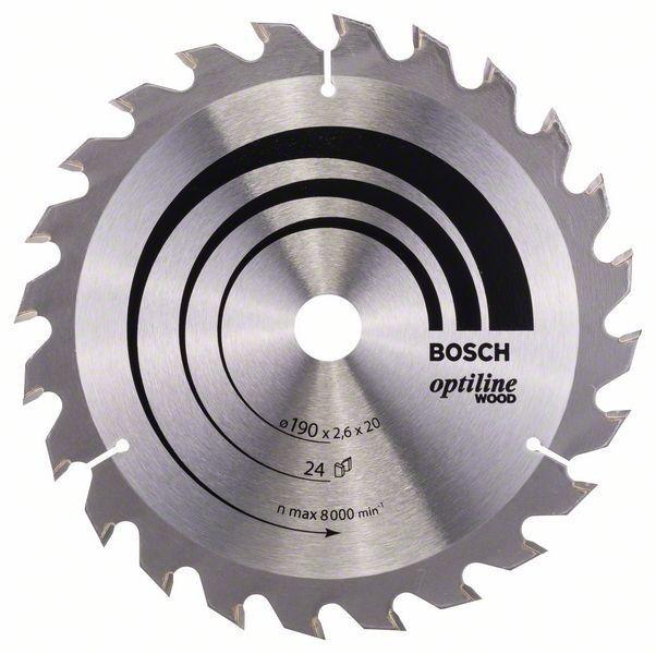 Bosch Optiline Holz Kreissägeblatt 190x20x24 2608640612