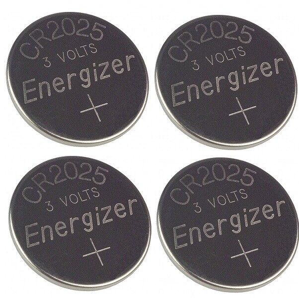 4 Pcs FRESH Genuine Energizer CR2025 ECR2025 3V Coin Button Battery Fast Ship Consumer Electronics